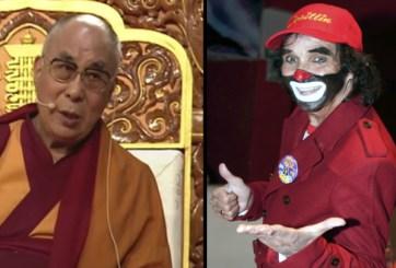 Salen del hospital «Cepillín» y el Dalai Lama