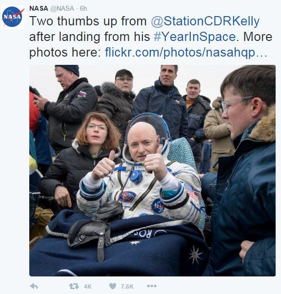 Foto: Twitter @NASA.