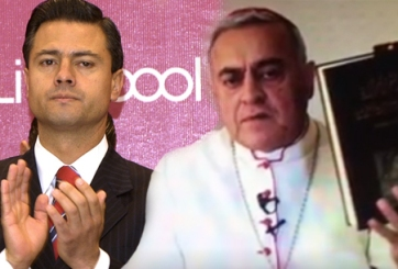 «Busca 'Gavioto'»: Obispo cuestiona sexualidad de Peña Nieto (VIDEO)
