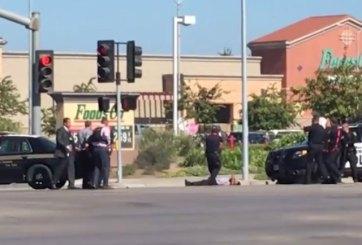 VIDEO: Policía mata a tiros a presunto suicida
