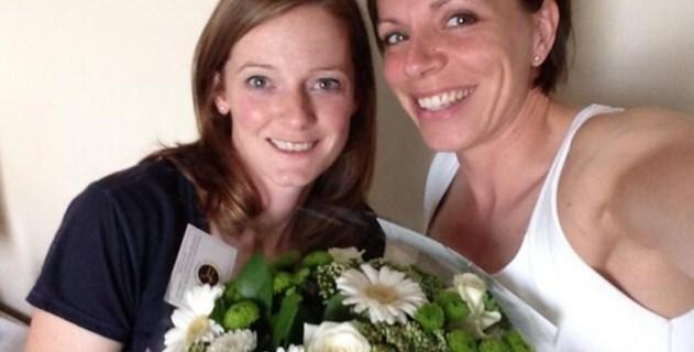 Ellas son la primera pareja gay casada que compite en las Olimpiadas