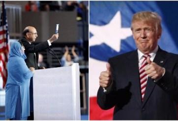 ¿Se pasó de la raya Trump por sus ataques a los padres de un soldado musulmán caído?