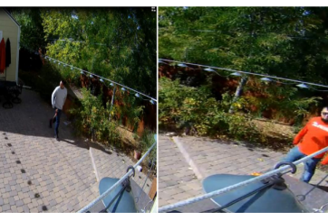 VIDEO: Dos ladrones captados mientras intentan robar una casa