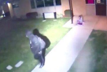 Desgarrador video de niña siendo abandonada en la intemperie en Utah