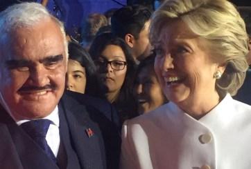 Fotos del encuentro de Hillary Clinton y Vicente Fernández