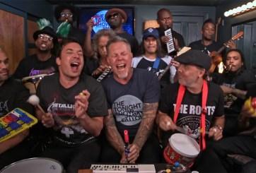 Metallica sorprende tocando con instrumentos de juguete