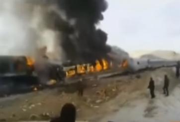 Accidente de trenes deja al menos 40 muertos en Irán
