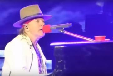 VIDEO: Un hecho insólito se vivió en pleno concierto de Guns N' Roses