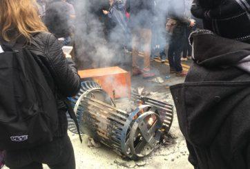 Ya son 200 los arrestados en las protestas por inauguración de Trump