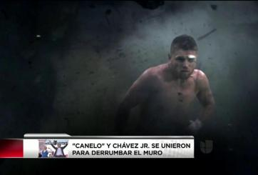 VIDEO: «Canelo» y Chávez Jr. derrumbaron el muro de Trump
