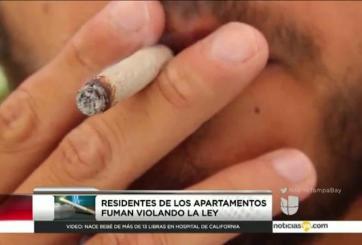 Denuncian violación a la ley de fumar en complejo de apartamentos