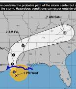 Costa de Texas es amenazada por tormenta tropical Cindy