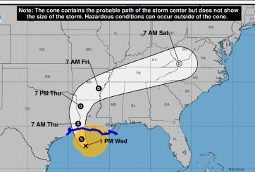 Costa de Texas es amenazada por tormenta tropical Cindy