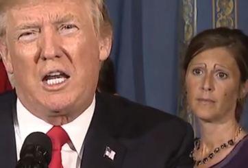 Peculiares cejas roban atención durante discurso de Trump
