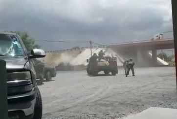 VIDEO: Fuerte balacera entre el ejército y delincuentes