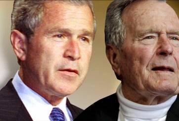 Los dos expresidentes Bush repudian el racismo tras Charlottesville