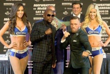 McGregor y Mayweather, a punto de enfrentar a la báscula