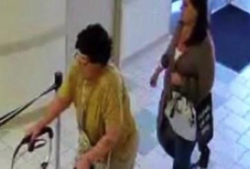 Ancianita con andador roba cartera y miles de dólares