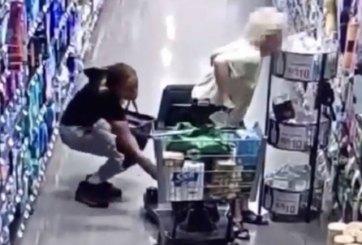 VIDEO: En lugar de ayudar a anciana, le roba su bolso