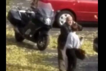 VIDEO: Oficial de Fort Collins tira mujer al piso para arrestarla