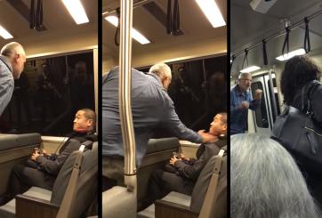 VIDEO: Hombre lanza golpes e insultos raciales a joven en California