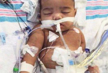 Bebé condenado a morir recibe un milagro de Thanksgiving