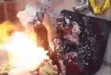 VIDEO: Cumpleañera y amiga quedan envueltas en llamas en fiesta