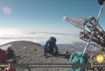 Joven tijuanense convoca a la nación a seguir su aventura montañista