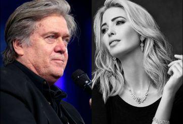 Ivanka Trump se olvida de Steve Bannon tras pleito con su padre
