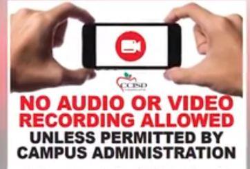 Prohíben grabar video o audio en escuelas en Texas