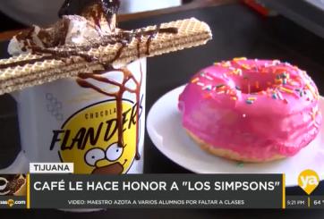 Cafetería crea bebida inspirada en personaje de Los Simpsons