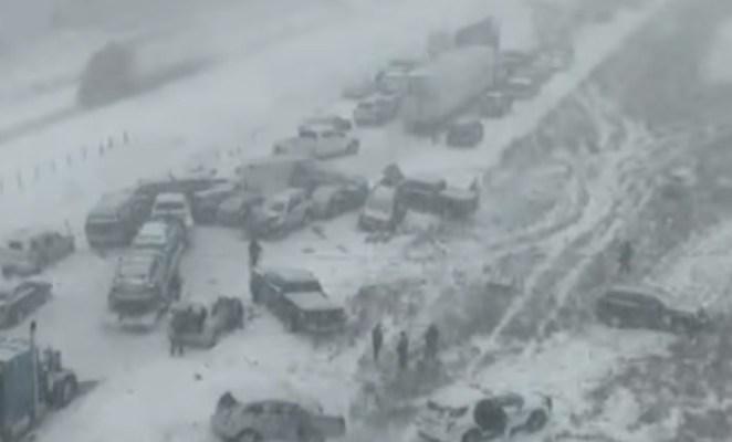 Impresionante video muestra choque múltiple que dejó un muerto en Iowa