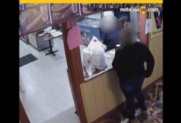 VIDEO: Entregan orden de comida con cocaína por error