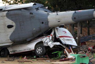 Al menos 13 muertos tras desplomarse helicóptero en México