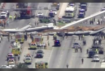 Al menos 6 muertos tras desplome de puente en universidad de Florida