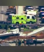 VIDEO: Este es el momento exacto que se cayó el puente peatonal de Miami