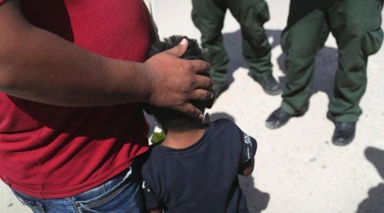 inmigrantes separados en la frontera