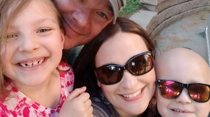 Garrett y familia