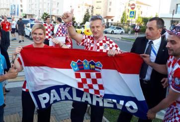 Sorprende presidenta de Croacia entre las tribunas del Mundial