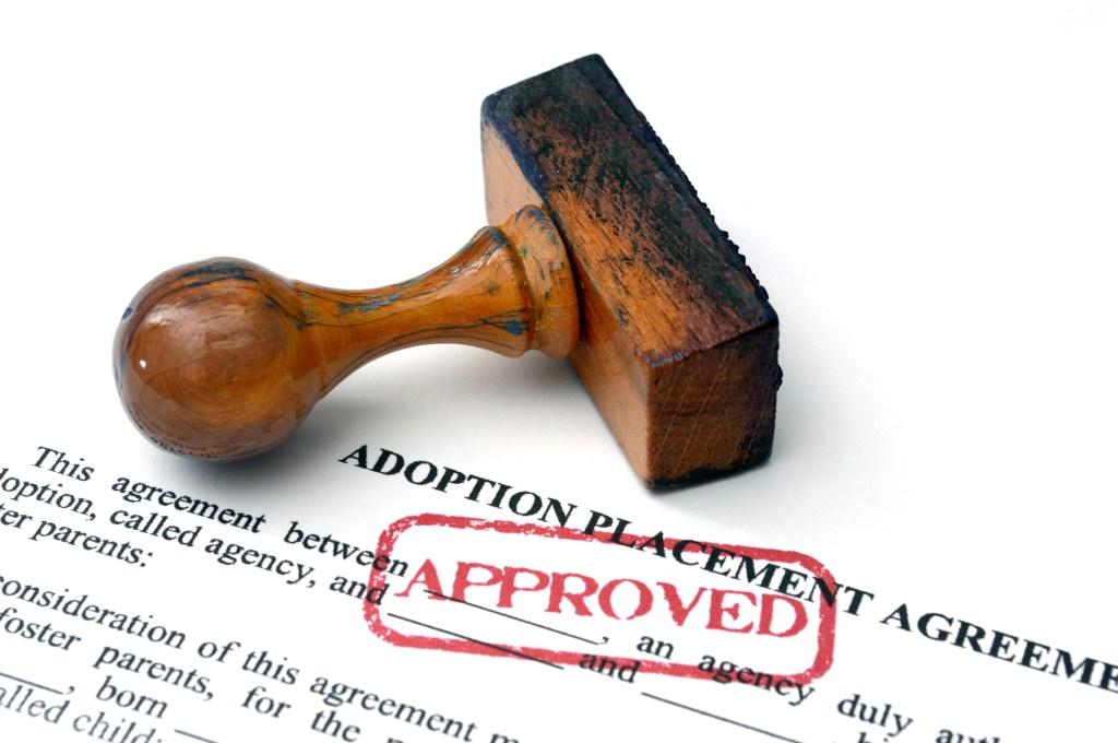 Proceso de adopción aprobado.