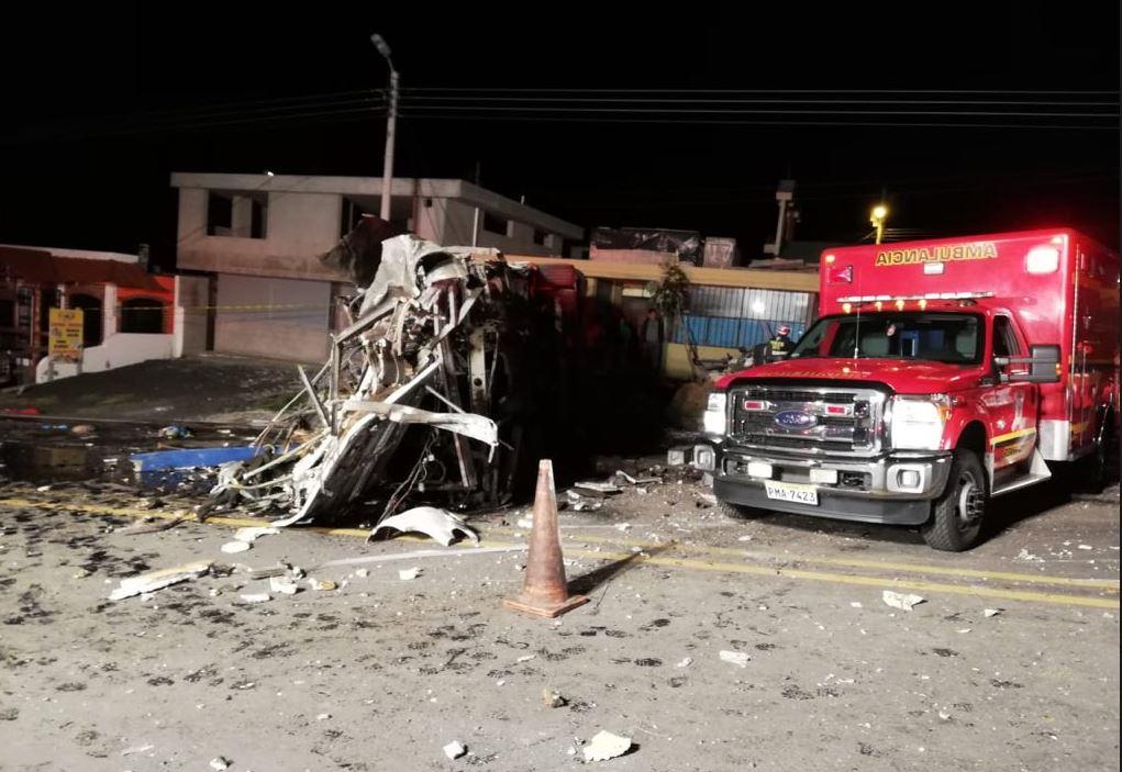 Choque de bus Ecuador