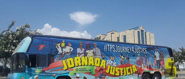 Personas con TPS inician recorrido de California a Washington D.C.