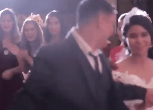 tornado llega a una boda en Filipinas