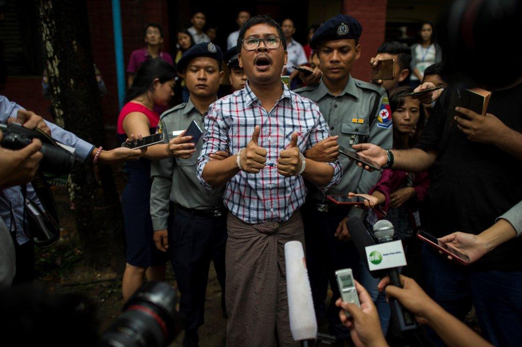 periodistas myanmar