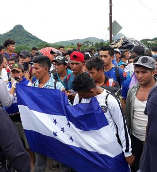Nueva caravana migrante de Honduras «no pasará», advierten autoridades