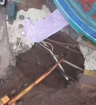 Se abre gran agujero en China y mata a 4