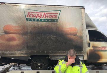 Incendio Camion Krispy Kreme