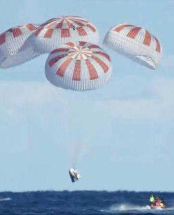 Cápsula Crew Dragón de SpaceX regresa a Tierra tras vuelo de prueba