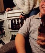 Estudiantes tomando cerveza