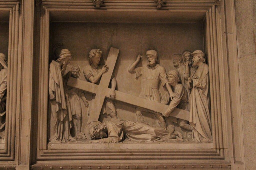 Escena de la caida de jesus